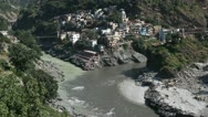 The source of the Ganges. Devprayag. Alaknanda and Bhagirathi rivers. Stock Footage