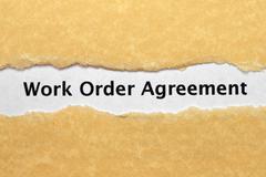 work order agreement - stock photo