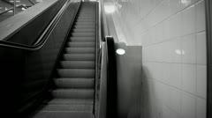 Escalator bw Stock Footage