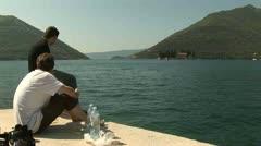 Montenegro, relaxing at lake Stock Footage