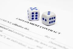 Employment contract Stock Photos