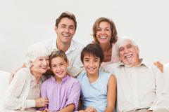 Extended family portrait Stock Photos
