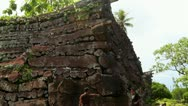 Ruins of Nan Madol and Tourists Stock Footage