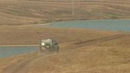 Stock Video Footage of Car Offroad, Lake, Kazakhstan