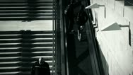 People and stairs 6 bw Stock Footage