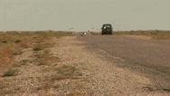 Stock Video Footage of Offroad Car Roadside, Kazakhstan
