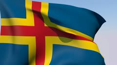 Stock Video Footage of Flag of Aland HD