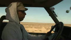 Guy Driving, Landrover, Kazakhstan - stock footage