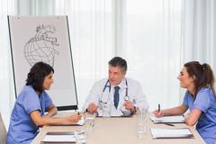 Medical meeting in progress Stock Photos