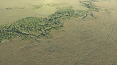THE MARA RIVER FROM ABOVE. Stock Footage