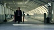 Train exit people 2 Stock Footage