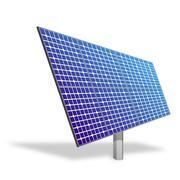 solar panel for alternative energy isolated on white. ecological power. - stock illustration