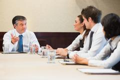 Business people having a meeting Stock Photos