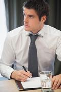 Businessman during meeting Stock Photos