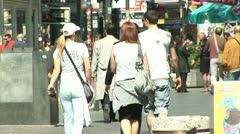 People Walking, Modern, Belgrade  - Serbia - stock footage