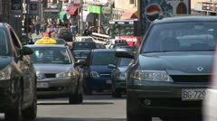 Cars, Traffic, Belgrade  - Serbia - stock footage