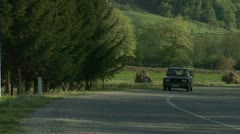 Countryside, Car Passing, Serbia Stock Footage