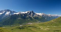 tonale pass, panorama - stock photo