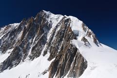 mont blanc massif - stock photo