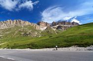 Stock Photo of road in italian dolomites