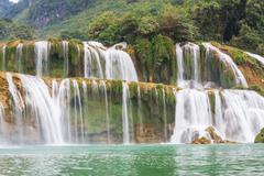waterfall in vietnam - stock photo