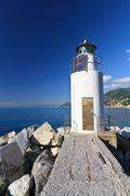 lighthouse over the sea - stock photo
