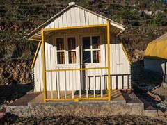 Mountain camp - Himalayas Stock Photos