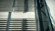 People and stairs 3 color Stock Footage