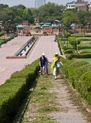 Raj Ghat park Stock Photos