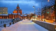Winter in Helsinki Stock Footage