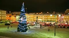 Christmas in Helsinki, Finland - stock footage