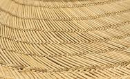 Stock Photo of close up of straw hat brim