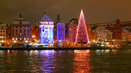 Christmas in Stockholm, Sweden Stock Footage