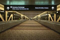 Phoenix Airport British Airways terminal night - stock photo