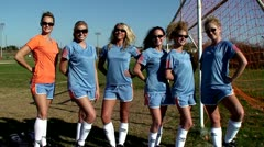 Soccer Team Stock Footage
