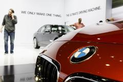BMW Display - 2012 Los Angeles Auto Show - stock photo
