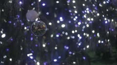 Bryant Park Christmas Tree - Ornament with Tree light in BG - Night (NO GRADING) Stock Footage