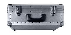 old metallic suitcase - stock photo