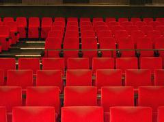 Punainen Elokuvateatteripaikkojen Kuvituskuvat