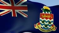 Flag of Cayman Islands HD Stock Footage