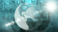 Earth abstract - light - globalization - stock footage