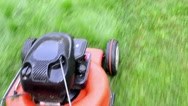 Stock Video Footage of walk grass mower meadow