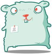 Stock Illustration of Hamster the clerk