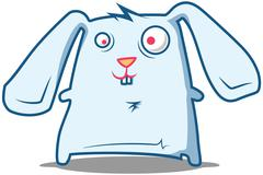 Silly Rabbit staring Stock Illustration
