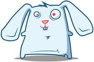 Stock Illustration of Silly Rabbit staring
