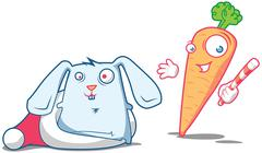 Stock Illustration of Xmas magic with Carrot & Rabbit