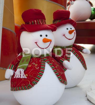 Stock photo of snowman christmas decoration