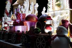 large luxury christmas decoration lights - stock photo