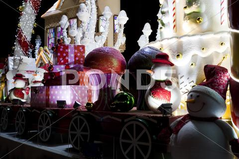 Stock photo of large luxury christmas decoration lights