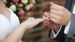 Dress wedding ring Stock Footage
